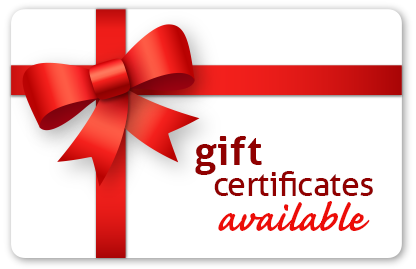 gift certificates availbale